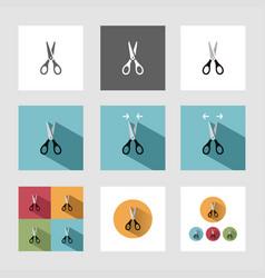 Scissors icon set vector