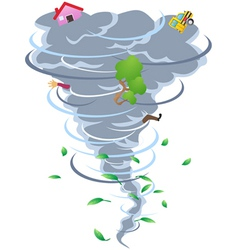 Sign of tornado vector