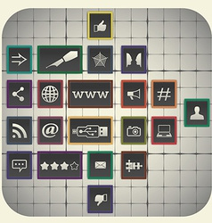 Social media infographic elements with graph vector