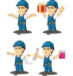Technician or repairman mascot 11 vector