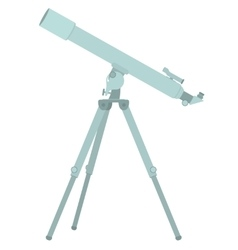 Telescope flat design vector image