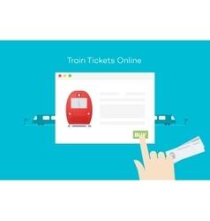 Train Tickets Online Conceptual Flat vector image vector image
