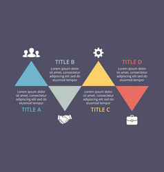 triangles timeline infographic cycle vector image vector image