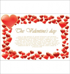 valentines day hearts vector image vector image