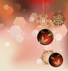 Winter background with Christmas decoration vector image vector image