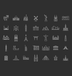 World famous landmarks vector