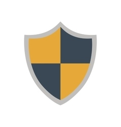 Shield security system protection icon vector