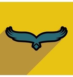 Stylish silhouette eagle logo vector