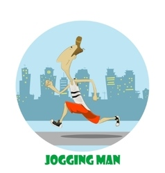 Happy boy on morning jog vector