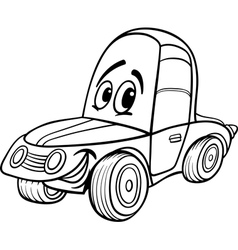 Car cartoon for coloring book vector