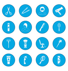 Hairdressing icon blue vector
