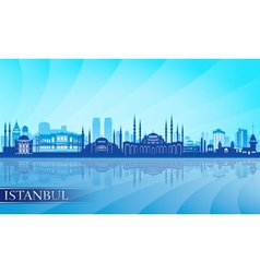 Istanbul skyline city skyline detailed silhouette vector