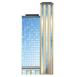 A tall building vector