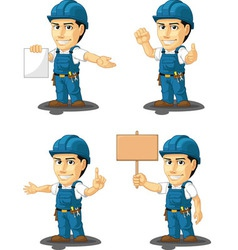 Technician or repairman mascot 12 vector