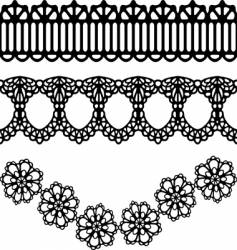 lace design vector image