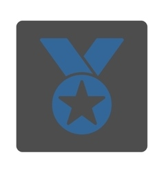 Medal icon from award buttons overcolor set vector