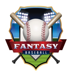 Fantasy baseball badge vector