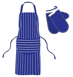 Blue apron and mittens vector