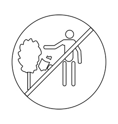 Not to throw garbage icon outline style vector