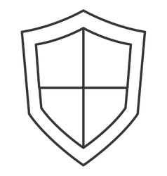 Single shield icon vector