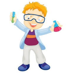Kid scientist vector image