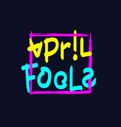 april fools lettering vector image