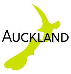 Auckland sticker stamp vector