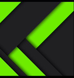 Black and green modern material design abstract vector