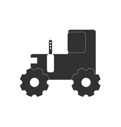 Black icon on white background children tractor vector