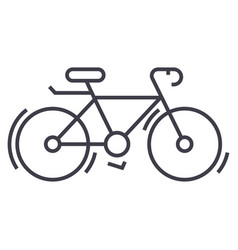 Bycicle line icon sign on vector