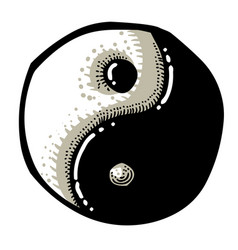 Cartoon image of ying yang icon vector