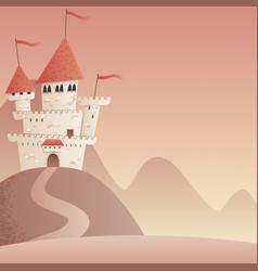 Castle landscape 2 vector
