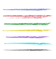 Colored brush strokes of pastel vector