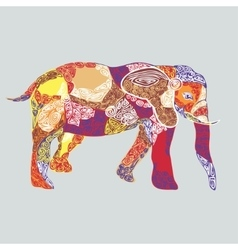 colored pattern elephant vector image