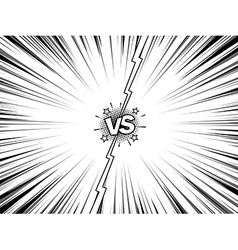 Comic versus battle intro vintage background vector image vector image