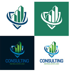 consulting and real estate logo vector image