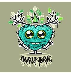Cute Wild Love Monster vector image vector image
