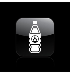 danger bottle icon vector image