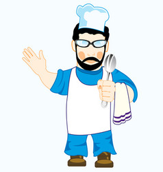 Drawing of the cook in robe vector