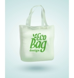 Eco fabric cloth bag tote isolated on white vector