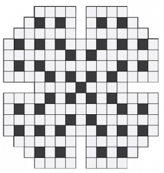 empty crossword puzzle vector image vector image