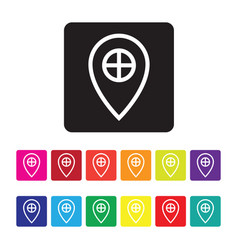 gps services icon set vector image