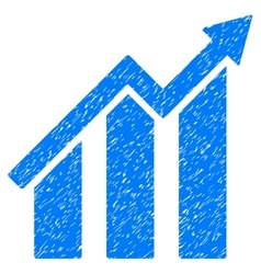 Growth chart grainy texture icon vector