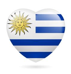 Heart icon of Uruguay vector image