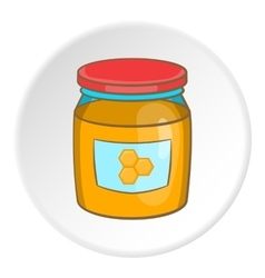 Honey bank icon cartoon style vector image