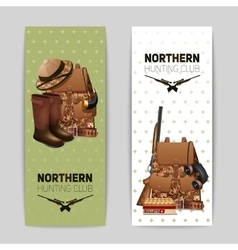 Hunting banners set vector