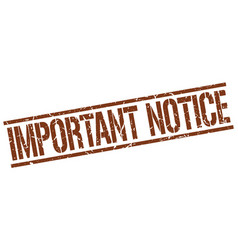 Important notice stamp vector