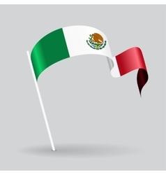 Mexican wavy flag vector