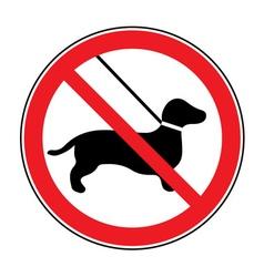 No dog sign vector