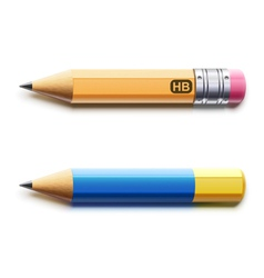 sharpened detailed pencils vector image vector image